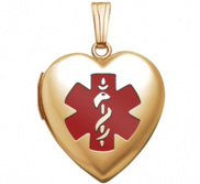 Gold Filled Medical ID Heart Locket