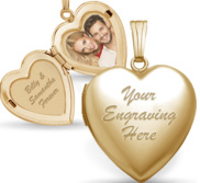 14k Gold Filled Valentine s Day Locket Package