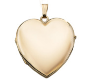Solid 14K Gold Heart Four Photo Locket