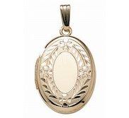 14K Gold Filled Oval Locket
