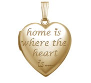 Yellow Gold  Home is where the Heart is  Heart Locket