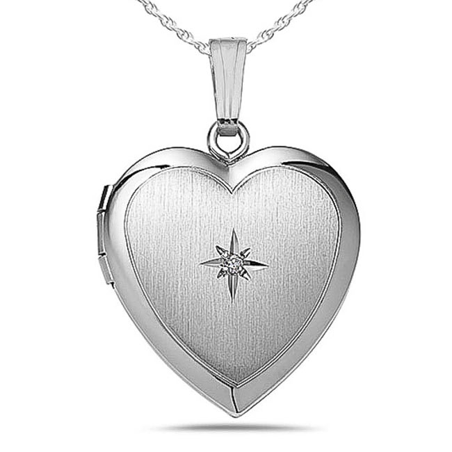 3//4 Inch X 3//4 Inch with Engraving PicturesOnGold.com Sterling Silver Will You Marry Me Sweetheart Locket