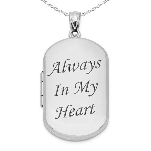 Personalized Sterling Silver Sport Dog Tag w// Small Soccer CharmGoldRose