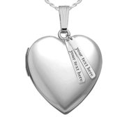 Sterling Silver Heart Photo Locket w  Personalized Tabs