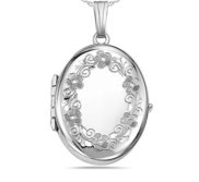 Sterling Silver Oval Four Photo Locket