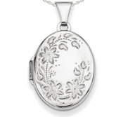Sterling Silver Oval Picture Locket