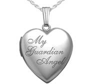 Sterling Silver   My Guardian Angel   Heart Locket