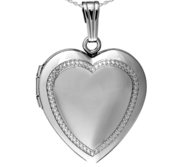 Sterling Silver Beaded Edge Locket