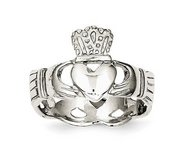 Ladies or Children Sterling Silver Claddagh Ring