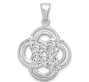 Sterling Silver Rhodium Plated Polished Pendant