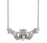 Claddagh Necklace w  18 Inch Necklace