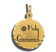 Holy Communion Charm Black   White