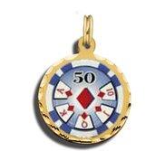 50 Poker Chip Charm