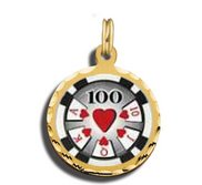 100 Poker Chip Charm