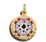 5 Poker Chip Charm