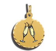 Champagne Glasses Charm