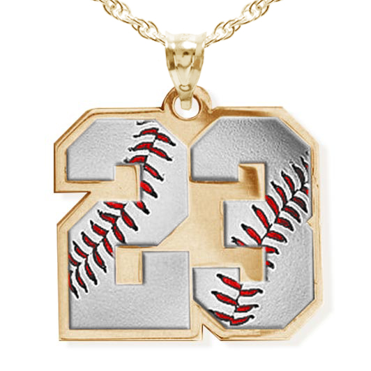 Color enameled baseball number charm or pendant with 2 digits pg71130 aloadofball Gallery