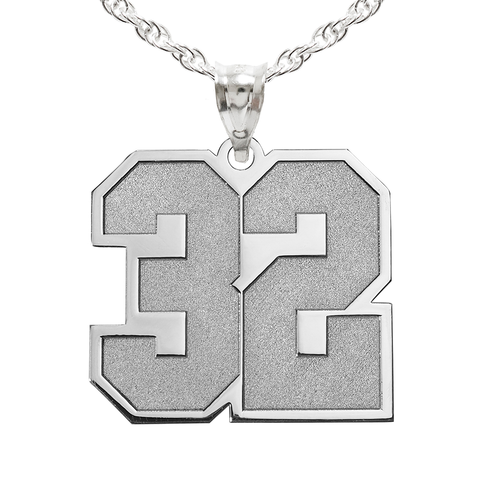 Sports Number Pendant Charm Necklace