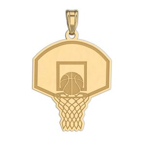 Engravable Basketball Hoop Pendant or Charm