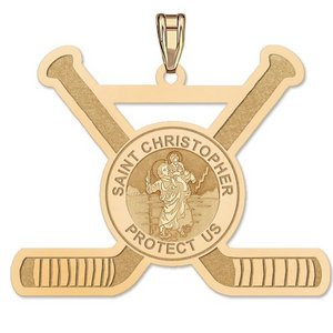 Exclusive Saint Christopher Hockey Pendant