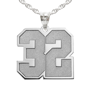 Sports Number Pendant Charm or Necklace