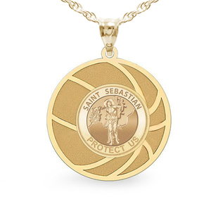 Exclusive Saint Sebastian Basketball Medal