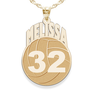 Custom Volleyball Pendant w  Name   Number