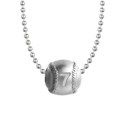 Personalized Baseball Necklace w  18  Chain Included