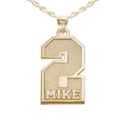 Personalized Single Number  Pendant