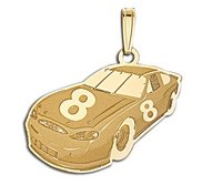 Custom Racecar Charm or  Pendant w Number