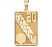 Personalized Soccer Pendant w  Cut out Name   Number