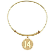 Expandable Bracelet w  Round Sports Number Charm