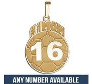 Custom  1  SOCCER MOM  Soccerball Charm or  Pendant w  Number