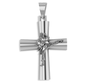 Sterling Silver High Polished Karate Cross w  Antique Finish