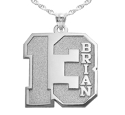 Personalized Number Pendant with Name