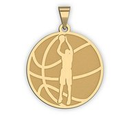 Basketball w  Player Silhouette Medal