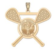Exclusive Saint Sebastian Lacrosse Pendant
