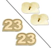 Custom Post Number Earrings