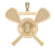 Exclusive Saint Christopher Lacrosse Pendant