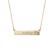 Personalized Horizontal Football Name Bar w  18  Chain