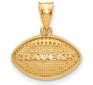 LogoArt Baltimore Ravens Football Pendant