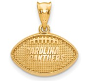 LogoArt Carolina Panthers Football Pendant
