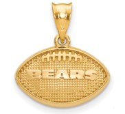 LogoArt Chicago Bears Football Pendant