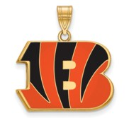 Cincinnati Bengals Large Enamel Pendant