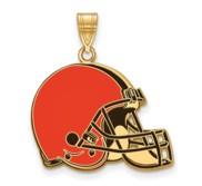 Cleveland Browns Large Enamel Pendant