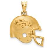 LogoArt Denver Broncos Football Helmet Pendant