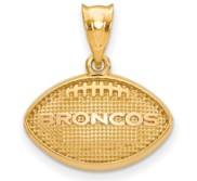 LogoArt Denver Broncos Football Pendant