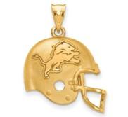 LogoArt Detroit Lions Football Helmet Pendant