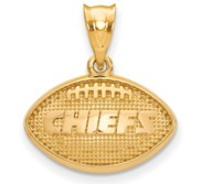LogoArt Kansas City Chiefs Football Pendant