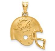 LogoArt Miami Dolphins Football Helmet Pendant